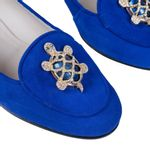 Loafer-Tartaruga-Azul-Broche