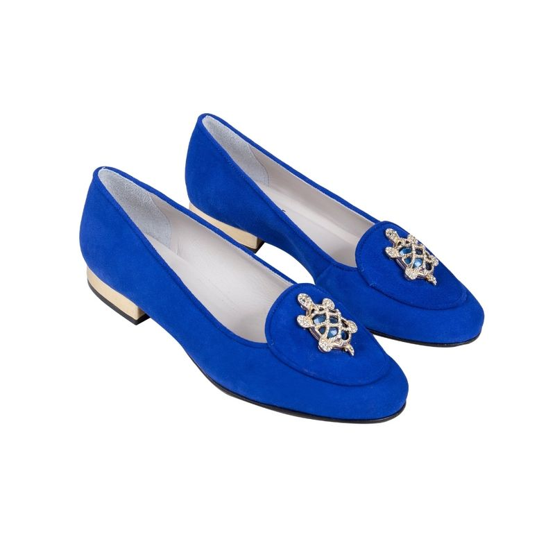Loafer-Tartaruga-Azul-Lado