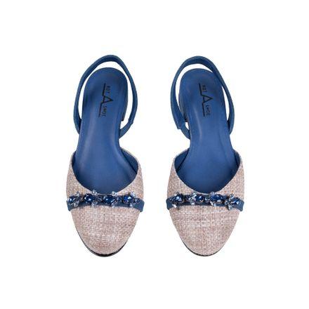 Slipper Bicolor Azul